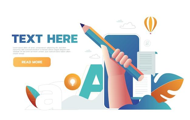 Escrever currículo de negócios no trabalho.