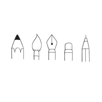 Escrever ferramentas para desenhar nad