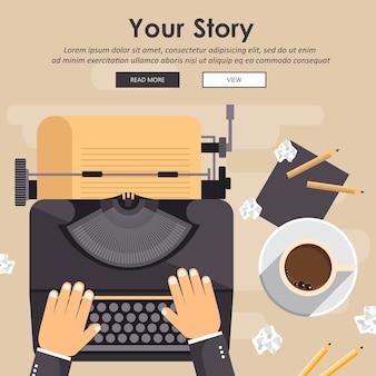 Escrever uma história ou coluna para jornal ou revista