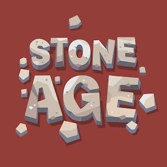 Escrita em idade de pedra. letras 3d