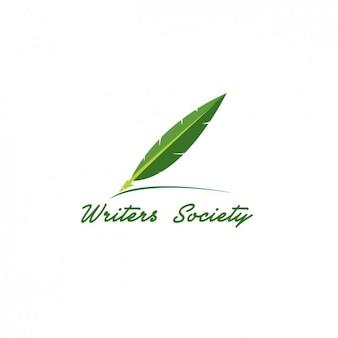 Escritores verde logotipo