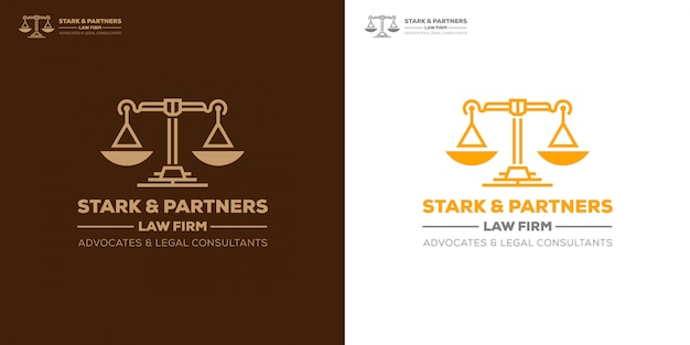 Escritório de advocacia defende consultor jurídico modelo de logotipo
