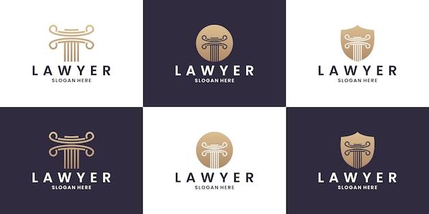 Escritório de advocacia, escritório de advocacia, serviços de advogado, modelo de logotipo de vetor