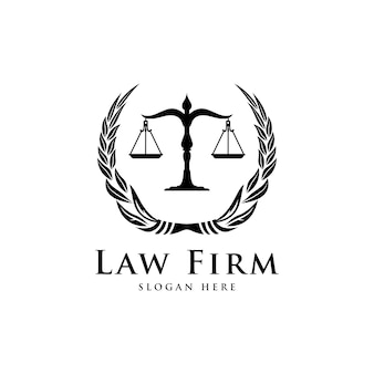 Escritório de advocacia, escritório de advocacia, serviços de advogados, logotipo de crista vintage de luxo, modelo de logotipo vetorial