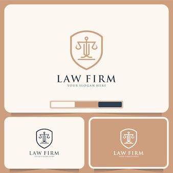 Escritório de advocacia, justiça, inspiração para o design de logotipo