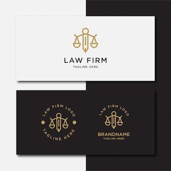Escritório de advocacia, serviços de advogado, logotipo vintage de luxo