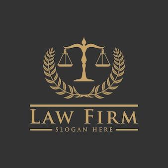 Escritório de advocacia serviços de advogados, logotipo vintage de crista de luxo