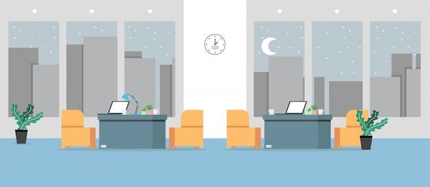Escritório de aprendizagem e ensino para trabalhar usando ilustração, programa