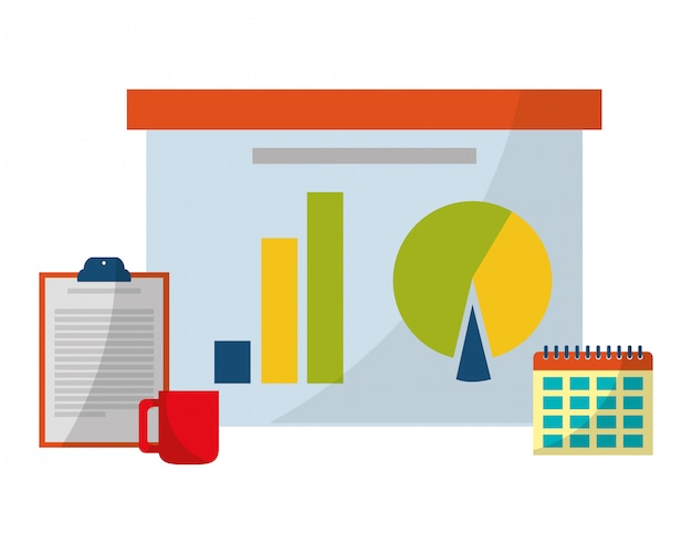 Escritório de negócios e marketing