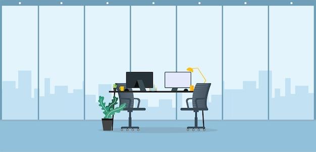 Escritório de trabalho de aprendizagem e ensino na companhia de empresários trabalhando com ilustração de programas