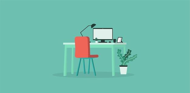Escritório de trabalho de aprendizagem e ensino na companhia de empresários trabalhando usando ilustração vetorial de design de programa