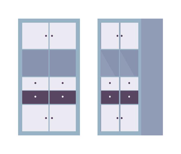 Escritório do armário de armazenamento em azul