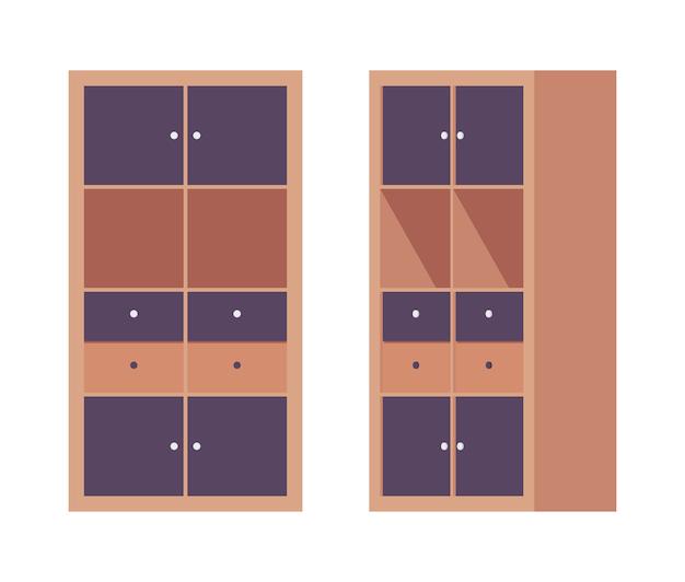 Escritório do armário de armazenamento em marrom