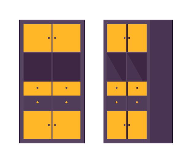 Escritório do armário de armazenamento em preto