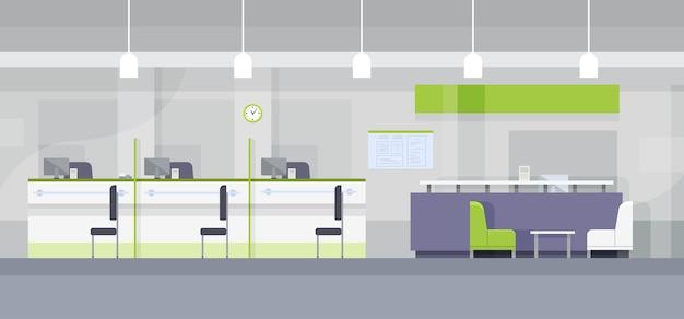 Escritório do banco moderno