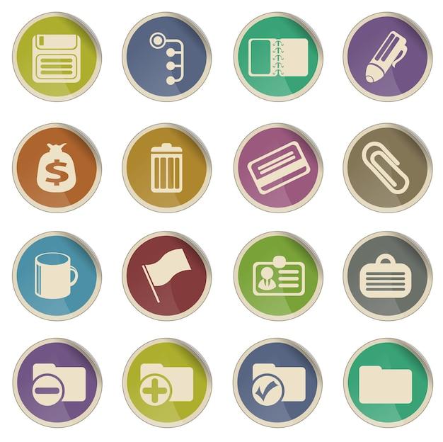 Escritório simplesmente símbolo para ícones da web