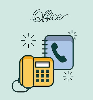 Escritório telefone e livro de endereços contato trabalho