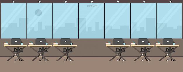 Escritório trabalho na empresa trabalho usando ilustração vetorial