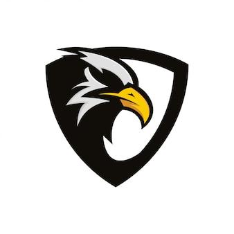 Escudo águia pássaro emblema pássaro