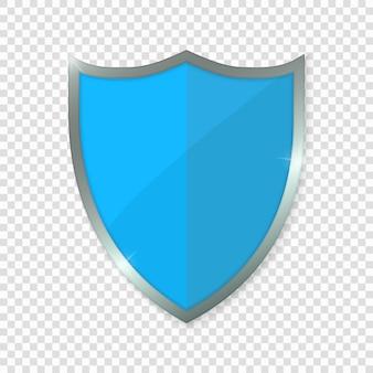 Escudo azul.