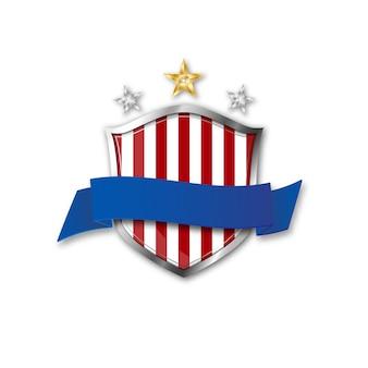 Escudo com a bandeira dos eua