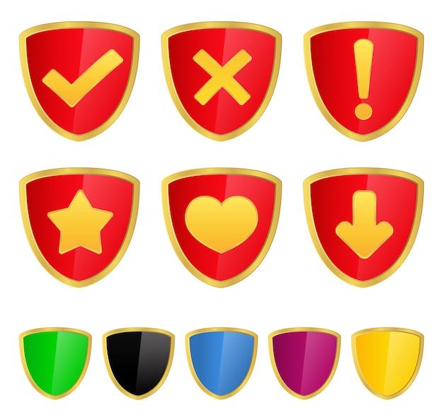 Escudo com ícones