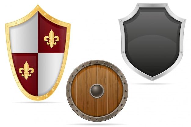 Escudo de batalha medieval