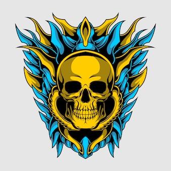 Escudo de caveira de ouro
