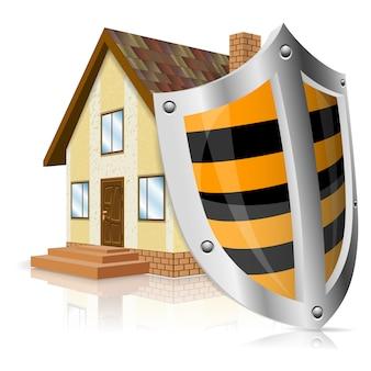 Escudo de defesa em casa