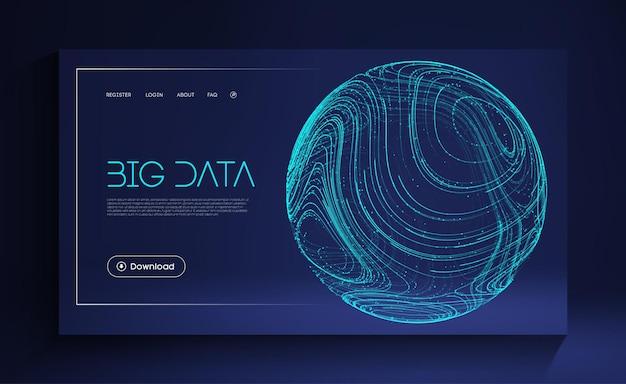Escudo de esfera azul sobre fundo azul ilustração digital de proteção de dados energia da esfera abstrata