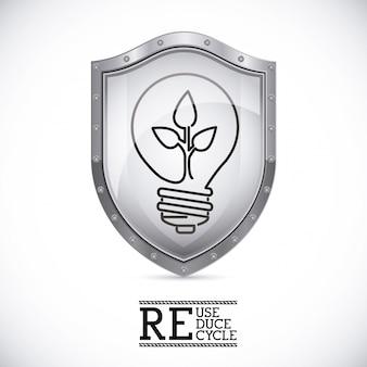 Escudo de lâmpada ecológica