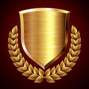 Escudo de ouro com coroa