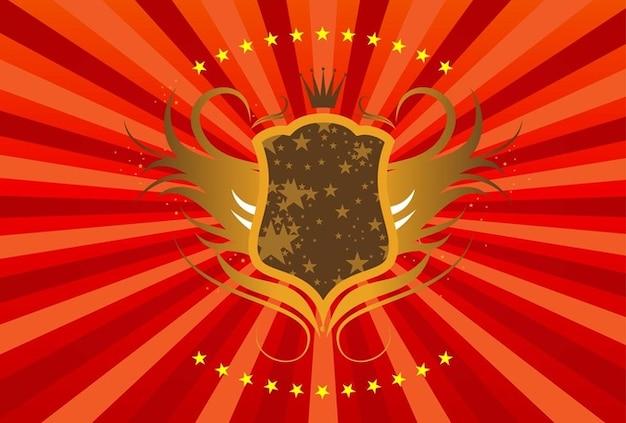 Escudo de ouro vector
