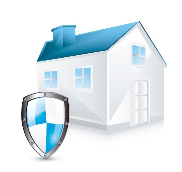 Escudo de proteção com casa
