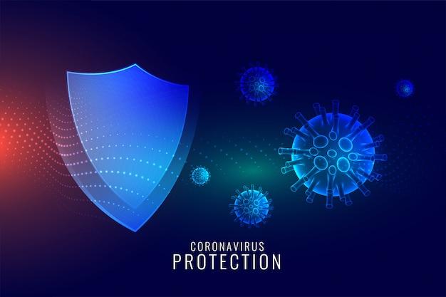 Escudo de proteção contra coronavírus para um bom sistema imunológico
