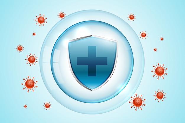 Escudo de proteção de coronavírus covid-19 para uso médico