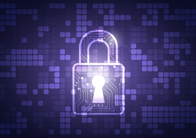 Escudo de proteção de dados on-line e abstrato com tecnologia de computador
