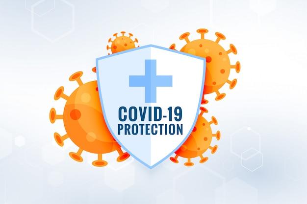 Escudo de proteção do coronavírus covid19 com células virais