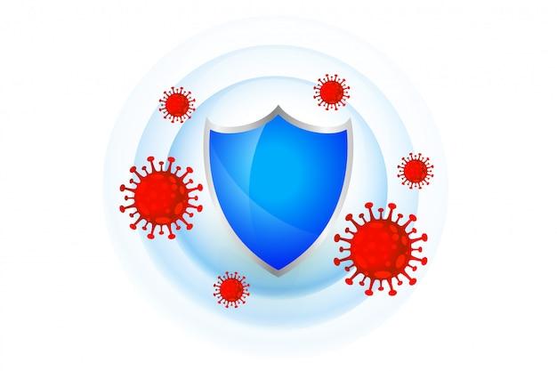 Escudo de proteção médica com bom sistema imunológico