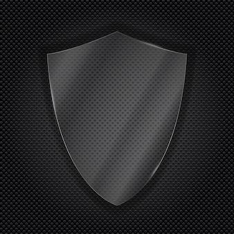 Escudo de proteção transparente de vidro