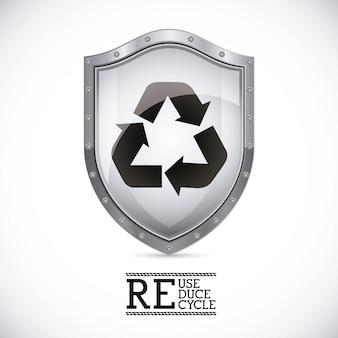 Escudo de reciclagem