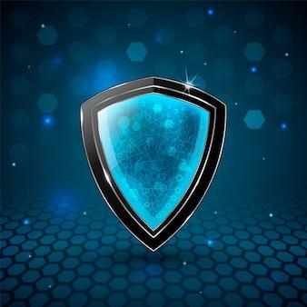 Escudo de segurança da informação.