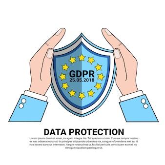 Escudo de segurança de dados protege palmas