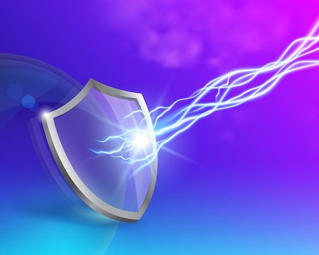 Escudo de vidro com dupla proteção.