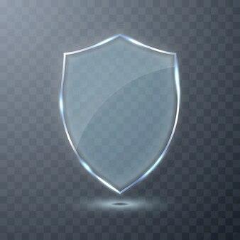 Escudo de vidro transparente