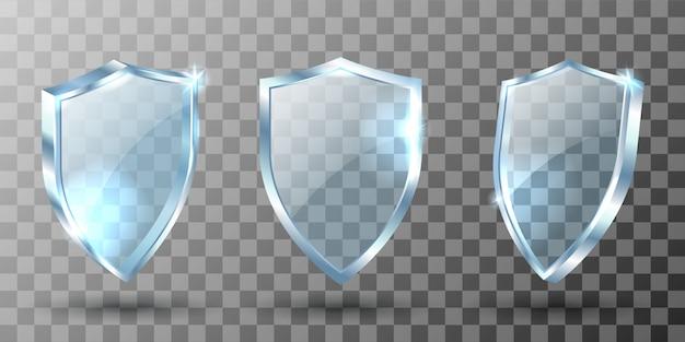 Escudo de vidro, troféu de prêmio realista, certificado