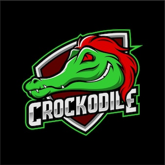 Escudo do logotipo do crocodilo