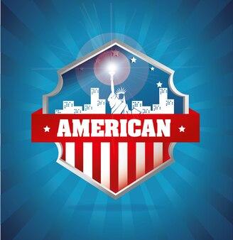Escudo emblema americano