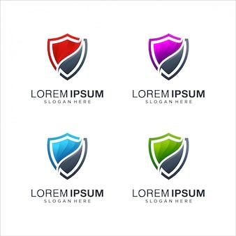 Escudo logotipo colorido