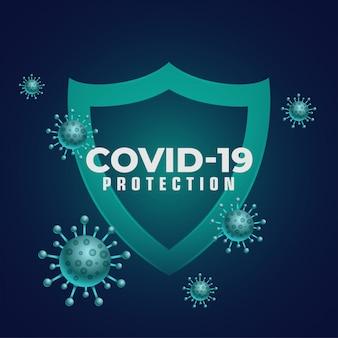 Escudo médico de boa imunidade, impedindo a entrada de coronavírus